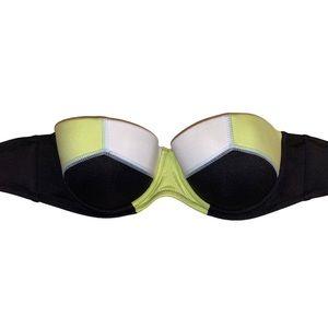 NWOT VICTORIA'S SECRET Flirt Bandeau Bikini 32D